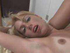 Fascinating tgirl gets fingered and blowed by girl