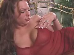 Sweet hot shemale shows her body and jerks