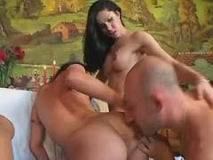 Hungry beautiful shemales blowing tattoed dude