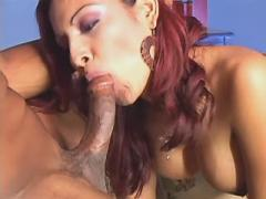Appetizing longhired shemale fucked by her lover