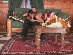 Guy and sexy tgirl give each other sixtynine blowjob