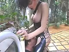 Chick sucks cock by latina shemale